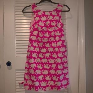 Lilly Pulitzer Hot Pink Elephant Dress Size 00